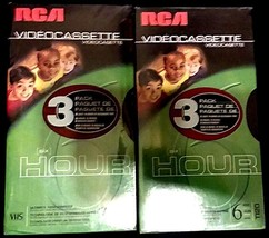 Six (6) RCA T120 6 Hour Premium Blank Video Cassette New Sealed - $23.53