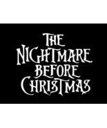 NIGHTMARE BEFORE CHRISTMAS Jack Skellington Vinyl Decal CHOOSE SIZE COLOR - $2.60+