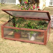 Portable Wooden Green House Cold Frame Raised Plants Bed Protective Gard... - $82.32