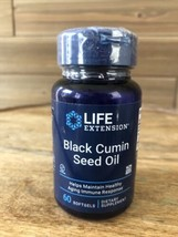 Life Extension Black Cumin Seed Oil 60 softgels - Exp 1/23 - $11.93