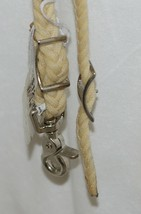 Unbranded 3578 Waxed Braided Roper Rein Cream Color 7 Plus Feet image 2