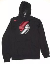 Nike NBA Portland Trailblazers Logo Hoodie Sweatshirt Mens S Black 88116... - $74.76