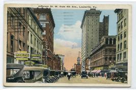 Jefferson Street Louisville Kentucky 1920s postcard - $5.89