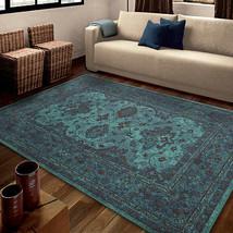"5x8 (5'3"" x 7'6"") Traditional Oriental Teal Blu... - $125.00"