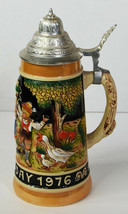 Vintage 1976 Genuine Bavarian Beer Stein Made West Germany Father's Day  - $47.49