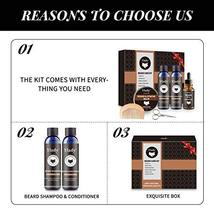 Beard Grooming Kit 100% Natural Beard Care Set for Mustache Growth Includes Unsc image 3