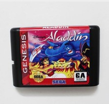 Aladdin 16 bit MD Game Card For Sega Mega Drive For Genesis - $9.50