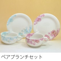 Made in Japan Mickey & Minnie Mouse pair Soup Cup & Plate set Newbon Mic... - $86.13