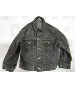 Vintage Lee Riders Boy Girl Denim Jacket Size 7 Made In USA Black Childrens - $34.29