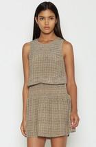Joie Kiernan Tile Printed Savory Silk Dress w/ Ruched Neck Beachwood L N... - $94.99