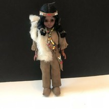 Vintage Carlson Doll Indian Souvenir Figure Native American Girl - $14.80