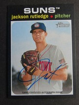 2020 Topps Heritage Minor League Jackson Rutledge Suns Real One Auto Card - $19.99