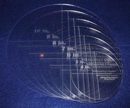 "7 Piece Set Quilt Circles 1/8"" Clear Acrylic  4"",5"",6"",7"",8"",9""10"" - $62.99"