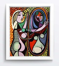 ComicsArt oil painting printed on canvas home decor Girl-Before-A-Mirror - $12.99+
