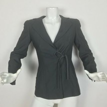Giorgio Armani Blazer Wool Silk Gray fitted Women Size 36 XS 0 2 Italy - $90.00