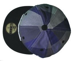 Dissizit Dx11 Bones Gingham Blue & Black New Era 59FIFTY Fitted Baseball Hat NWT image 6