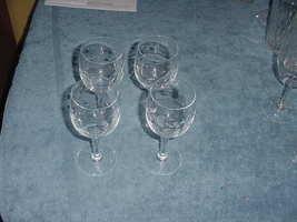 Set of 4 Princess House Heritage Crystal 6 inch wine glasses, Ex - $24.99