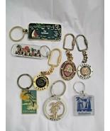 Souvenir Caribbean Key Chain Ring Mixed Lot of 8 Plastic Metal Cancun Ja... - $19.79