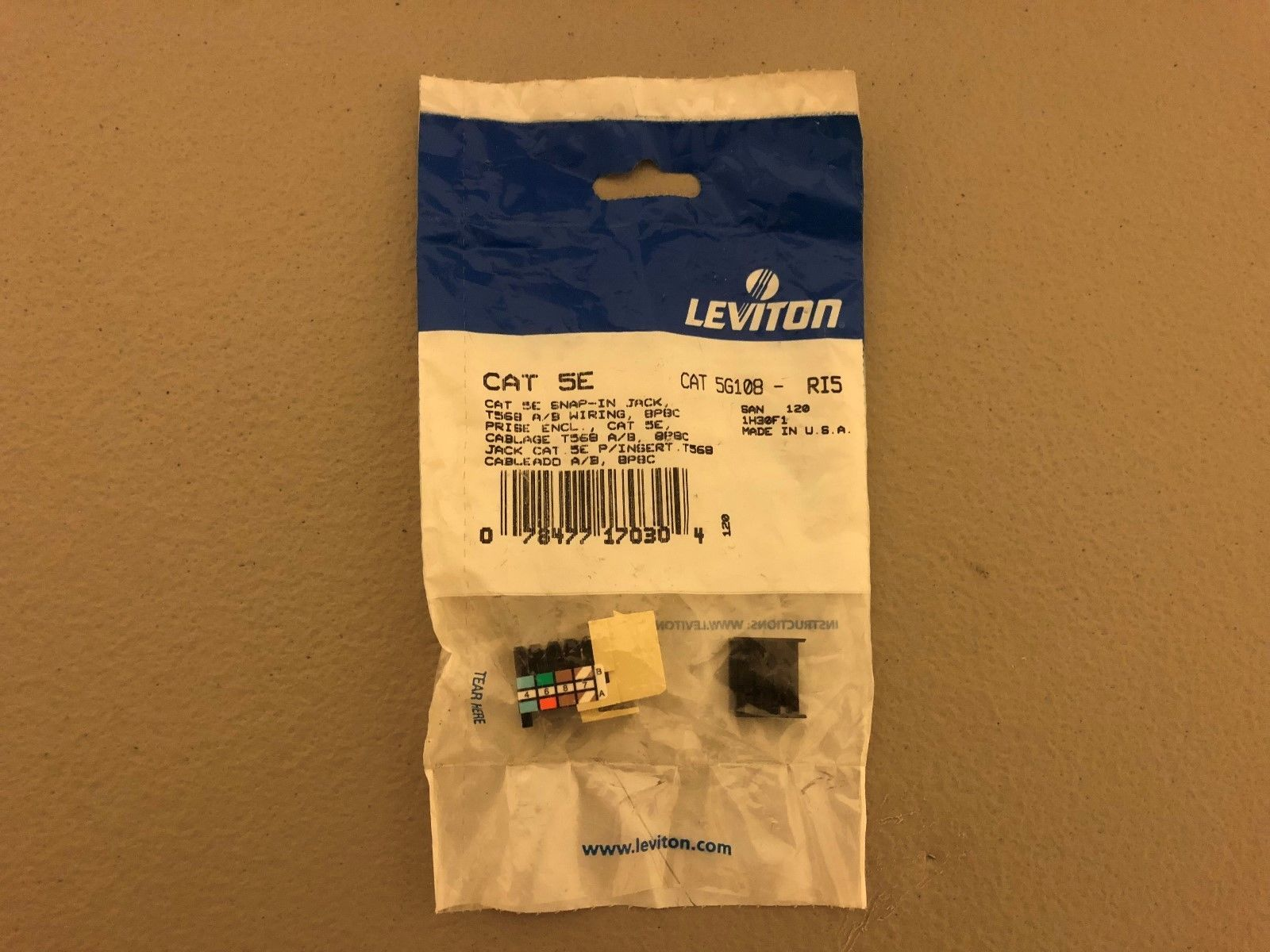 New In Package Leviton Cat 5E Snap In Jack and 39 similar items
