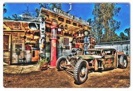 Vintage Standard Station Garage Shop Sign 12×18 - $25.74