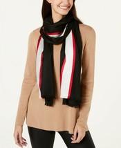 Calvin Klein Varsity-Stripe Lightweight Scarf (Black, One) - $29.58
