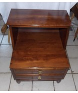 Mid Century Solid Cherry Step End Table / Nghtstand by Willett - $499.00