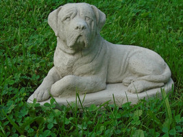 Concrete Statue, Mastiff, Mini Hand Painted or Sealed, Memorial, Grave M... - $39.99