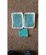 Handmade crochet knit Potholders for Kitchen Oven with Scrubby For Dishe... - $14.99