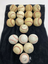 Lot of 15 Baseball League Batting Well (9 leather & 6 Rubber) Practice B... - $27.83
