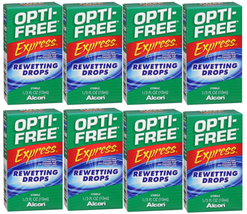 OPTI-FREE Express Rewetting Drops, 10-mL  (LOT OF 8) - $33.85