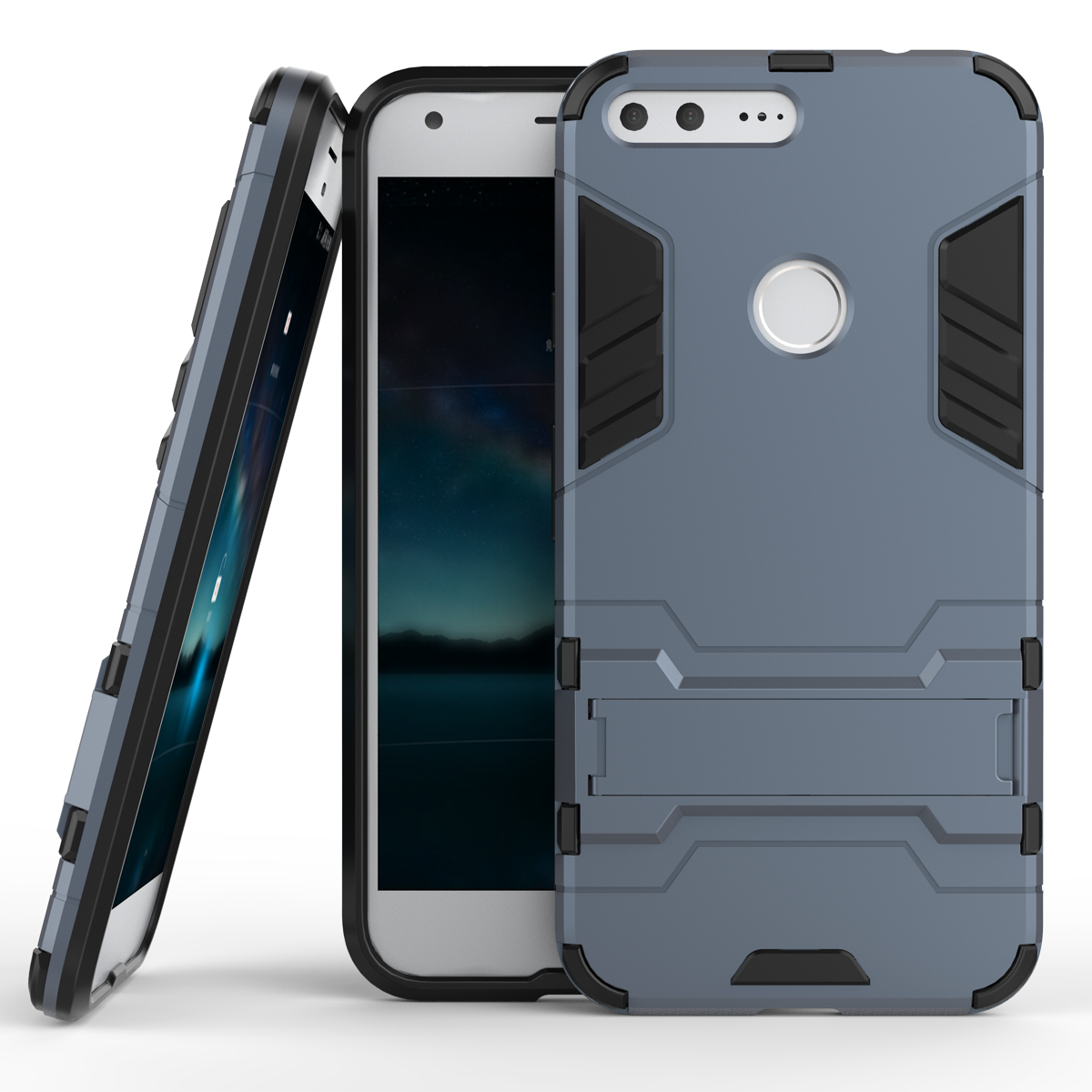 Ickstand tough dual layer protective case for google pixel 5 0inch navy blue p201610311524214960