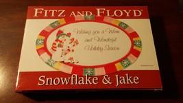Fitz & Floyd  Snowflake & Jake  Sentiment Tray   *NIB* - $12.19