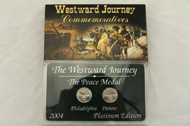 2004 Westward Journey Peace Medal Nickel Commemorative Platinum Edition ... - $5.93