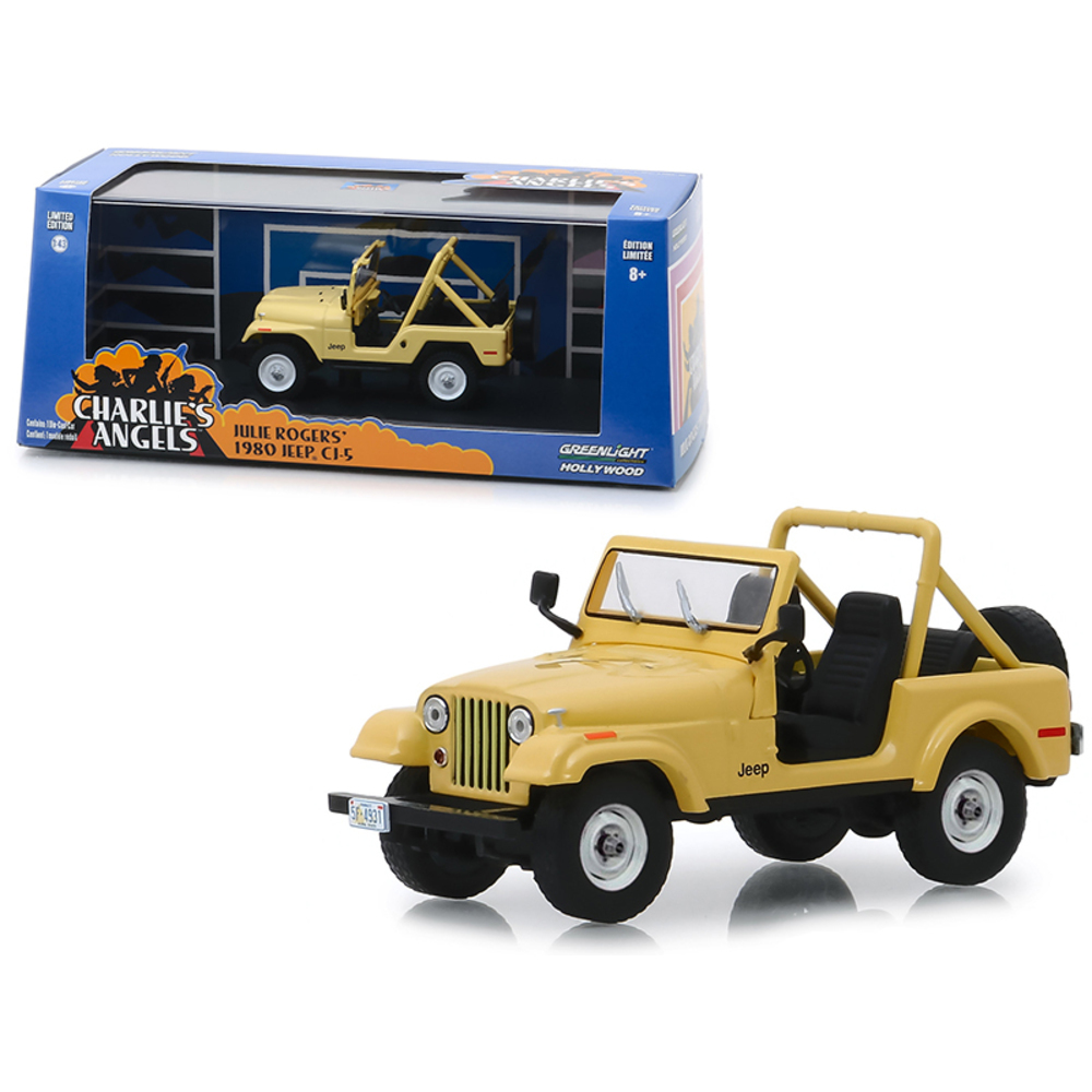 1980 Jeep CJ-5 Yellow (Julie Rogers) Charlies Angels (1976-1981) TV Series 1/43