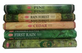 Genuine Hem 5 Box Incense Sticks Mix Assorted Fragrance Agarbatti 20 Gm Each Box - $9.30