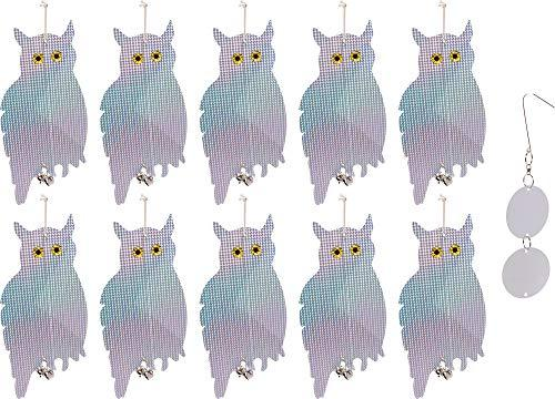 Reusable Revolution 10 Pack Holographic Owl Bird Scare Repeller - Reflective Han