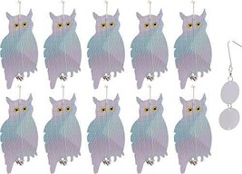 Reusable Revolution 10 Pack Holographic Owl Bird Scare Repeller - Reflec... - $57.78