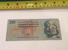 20 Korun Ceskoslovenske Czechoslovakia Bill Bank Note  - $9.42