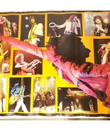 Led Zeppelin True Vintage Poster Photo Collage Group Band Shots 1985 Myt... - $36.10