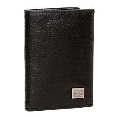 Nautica Men's Leather Trifold Credit Card ID Holder Wallet Black 31NU11X024