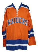 Custom Name # New York Raiders Retro Hockey Jersey New Orange Murray 13 Any Size image 3