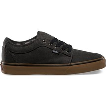 VANS Chukka Low (Washed) Black/Gum Classic Shoes MEN'S 7.5 WOMEN'S 9 image 2