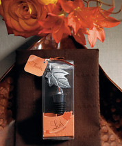 1 Autumn Fall Leaf Wedding Design Wine Bottle Stopper Favor Reception Dr... - $6.58