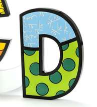 """6"""" Romero Britto Alphabet Letter Figurine Various Freestanding or Wall Mounted image 3"""