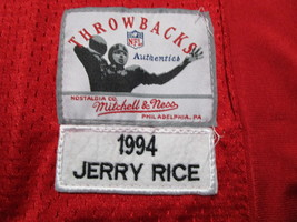 JERRY RICE / NFL HALL OF FAME / AUTOGRAPHED S.F. 49ERS THROWBACK JERSEY / COA image 5