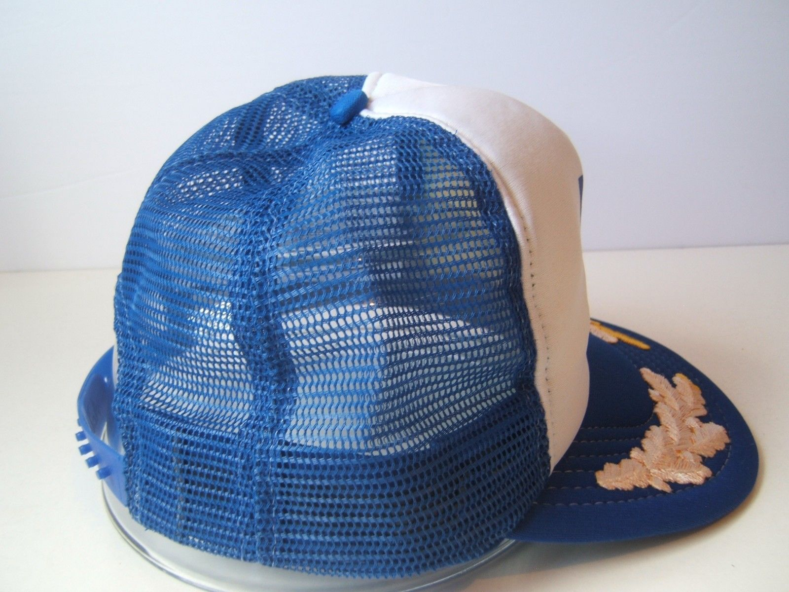 572787179 Vintage Sherwin Williams Paint Hat Blue White Snapback Trucker Cap Made USA
