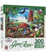 "MasterPieces Puzzle 300 Large Pieces 24"" x 18"" Farmland Frolic Green Acr... - $5.79"