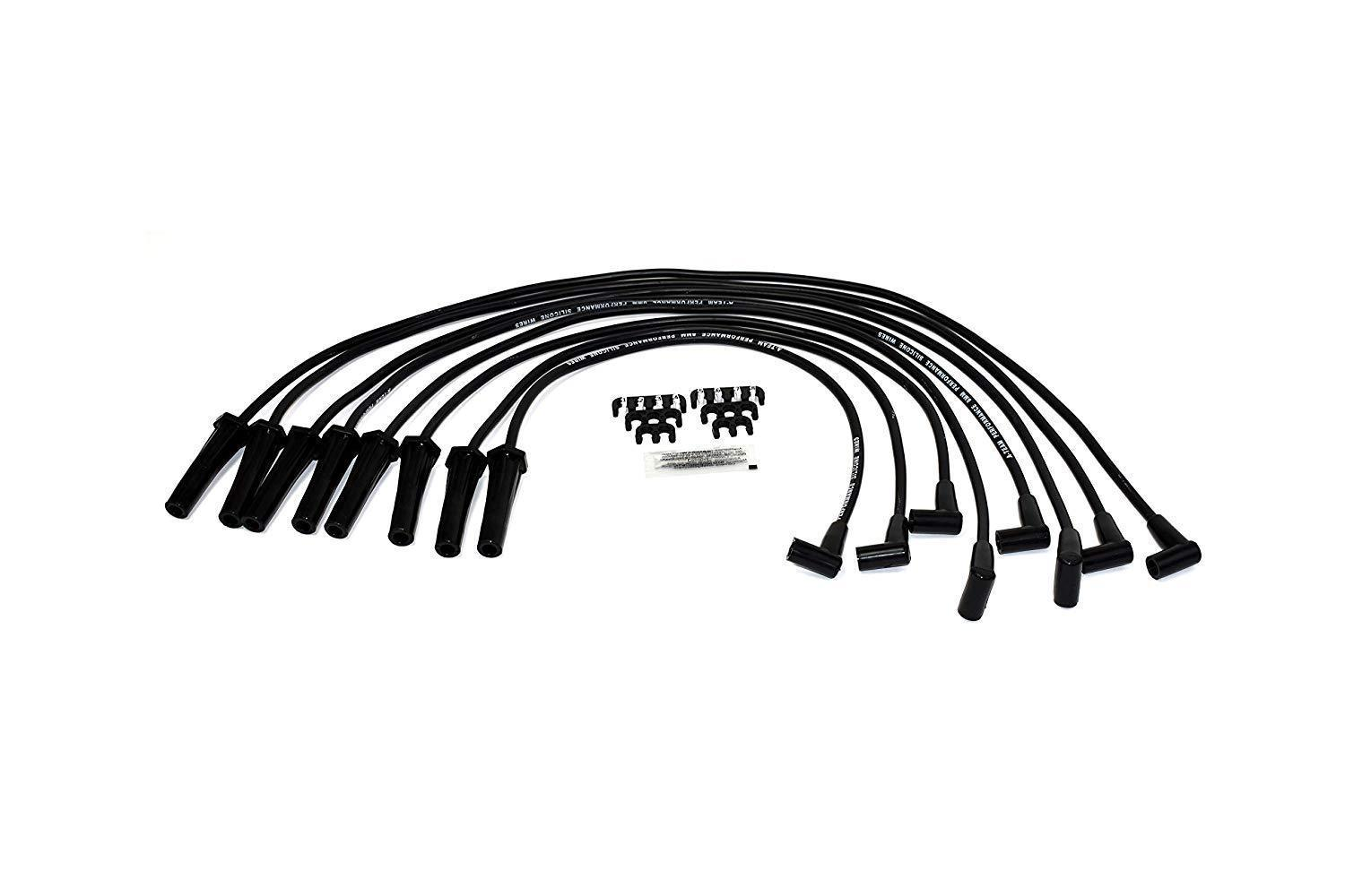 8.0mm Black Silicone Spark Plug Wires For BBC Big Block Chevy Chevrolet GMC