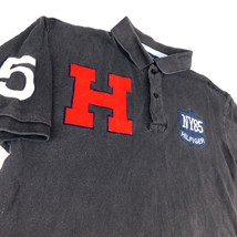 Tommy Hilfiger Black Polo Golf Shirt NY85 Large H Logo #5 Sz M - $49.99