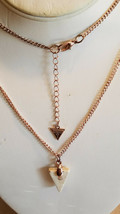 """Guess Triangle Pyramid Pendant Charm 36"""" Long Necklace (NEW) - $14.80"""